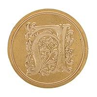 印鑑 シールワックススタンプ シーリングワックス DIY 装飾 木製 ハンドル 全26選択 - H