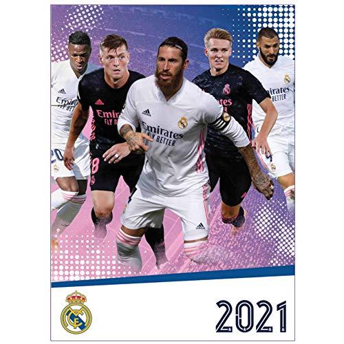 La Liga Calendrier mural officiel Real Madrid 2021 (A3)