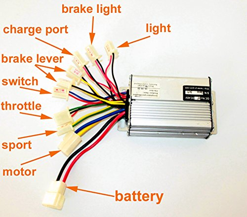 Regolatore del motore del regolatore del motore della spazzola dello scooter di 36V48V 1000W per il regolatore spazzolato del triciclo Scooter (36V1000W)