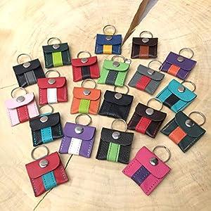 Halsbandtasche aus Leder für Hundemarke, Steuermarke, Tassomarke, Einkauschip | Ring Aufbewahrung | Viele…