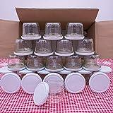 flaschenbauer.de 24er Set Sturzgläser 230 ml inkl. weiße Twist Off Deckel TO82 zum Einmachen von Suppen, Babynahrung, Dips oder zur Aufbewahrung von Tee und Kräuter