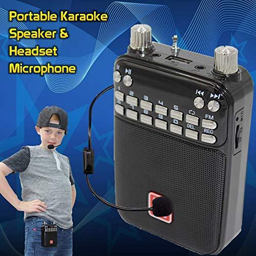 Mr Entertainer Popbox Tragbarer Karaoke-Lautsprecher, Sprachverstärker und Headset-Mikrofon. Karaoke-Maschine, funktioniert mit jedem Smartphone, iPad oder Tablet