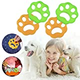 LIUMY Pet Hair Remover for Laundry, Laundry Lint and Fur Remover, 4Pcs Non-Toxic and Reusable for Washing Machine,Dryer,Clothes,Bedding(Yellow and Green)