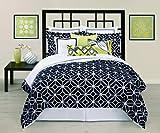 Trina Turk 2-Piece Trellis Comforter Set, Twin, Black/White
