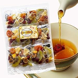 大地の生菓 フルーツティー 12袋入り 食べられるフルーツティー 6種類のドライフルーツ 紅茶 ティーバッグ 母の日 ギフト プレゼント 贈り物