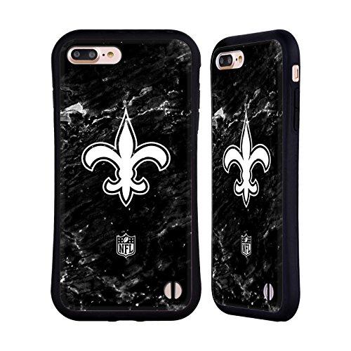 Head Case Designs Oficial NFL Mármol 2017/18 Santos de Nueva Orleans Carcasa híbrida Compatible con Apple iPhone 7 Plus/iPhone 8 Plus