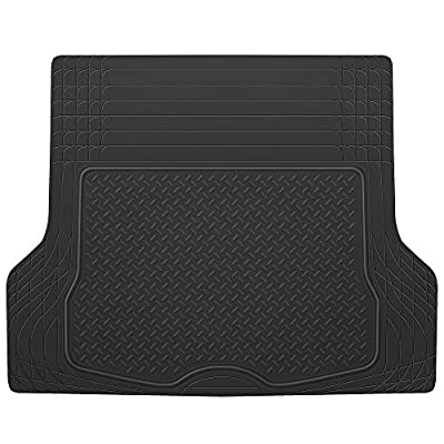 BDK HeavyDuty Rubber Cargo Floor Mat - All Weather Trunk Protection Trimmable to Fit & Durable HD Rubber