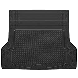 BDK Black Heavy Duty Rubber Cargo Floor Mat - All Weather Trunk Protection, Trimmable to Fit & Durable HD Rubber