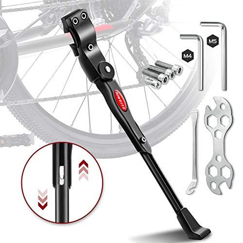 Aiweite Fahrradständer, 24-28 Zoll Universal-Fahrradständer mit Einstellbarer Höhe (4cm),Rutschfester Bike Stand mit Wellenmuster,Aluminiumlegierung Fahrrad Ständer für Mountainbike/FahrräDer/Klapprad