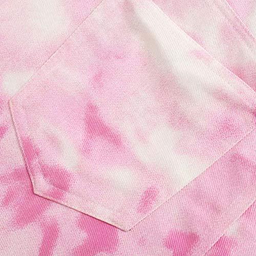 Minifalda de mezclilla rosa para mujer, diseño de mosca con cremallera, bolsillos para decorar faldas femeninas