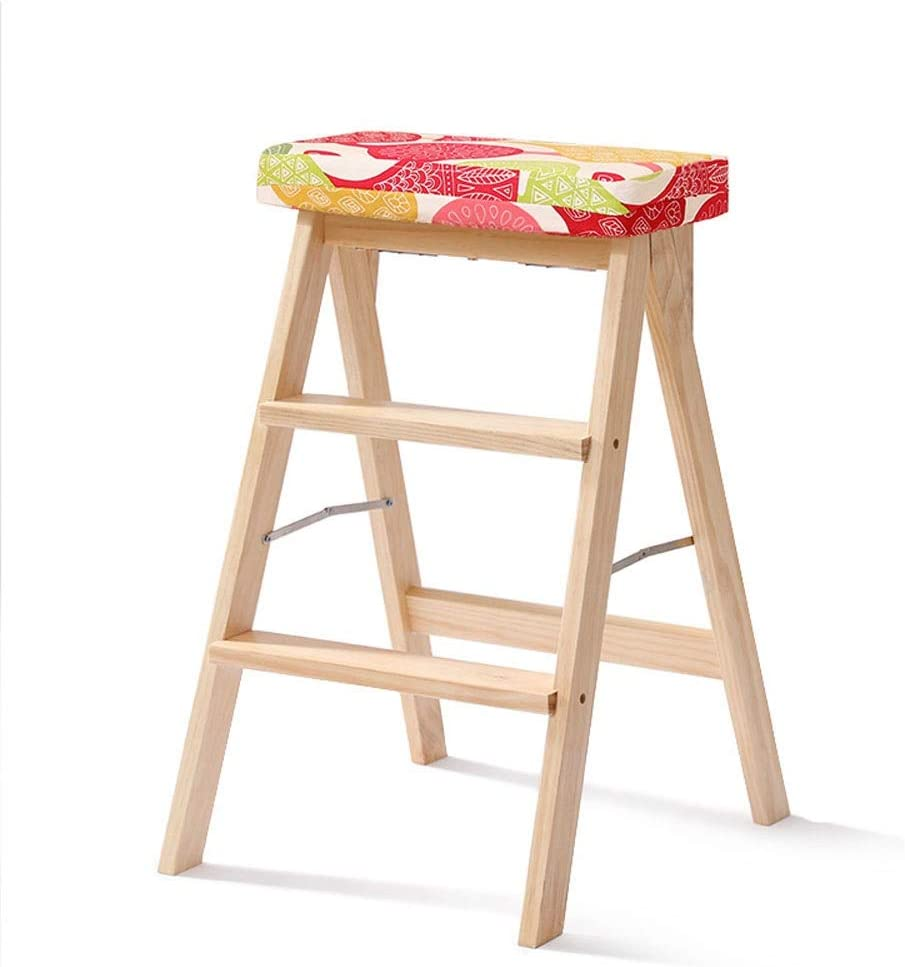 HTDZDX Kitchen Wooden Step Stool Ladder Fo quality assurance Wood Adults for Solid Direct stock discount