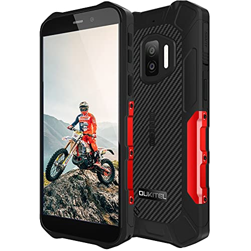 OUKITEL WP12 Rugged Smartphone Economici 202, Android 11 Display 5.5  ,13MP+2MP+2MP Camera,4GB +32GB Cellulari Offerte, IP68 Impermeabile Antiurto,Batteria 4000mAh, Dual SIM NFC Telefono Rosso