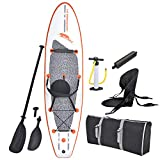 Blue Wave Sports Stingray Inflatable Stand Up Paddleboard with Paddle...