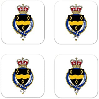 MyHeritageWear.com Mitchell Scotland Family Crest Square Coasters Coat of Arms Coasters - Set of 4