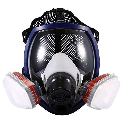 ENJOHOS Atemschutzmasken ENJOHOS Vollmaske mit doppelter Luftfilterpatrone zum Lackieren,Sprühen,organischen Dampf,Staub und Lackieren