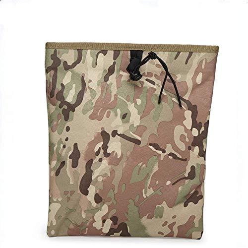 PIN XIU Collapsible Storage Bag Army Fan Equipment Regeneration Bag Tactical Collection Bag Outdoor diagonal Debris Bag Magazine Elastic Drawstring Shoulder Bag Camping 18X22 [cm]