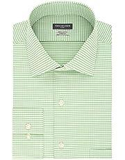 Van Heusen Dress Shirt Regular Fit Flex Collar Stretch Check