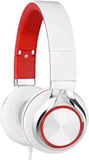 GLJJQMY Headset Phone Headset, Laptop 2 in 1 Single Hole Headset with Microphone Bluetooth Earphone (Color : RED)