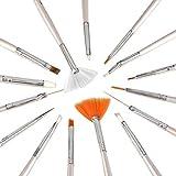 ZXUY 15pcs Nail Art Gel Design Pen Painting Polish Brush Dotting Drawing Tool Set New Bs-05