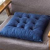 YZY Crystal sólido Terciopelo Cojín Cuadrado Decorativo Sentado Cojines en el Suelo Oficina Mat Sofá Silla Asiento Trasero del Coche de Relleno de heces Almohada (Color : Blue)