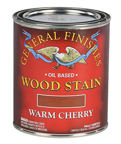 General Finishes Oil Based Penetrating Wood Stain, 1 Quart, Warm Cherry