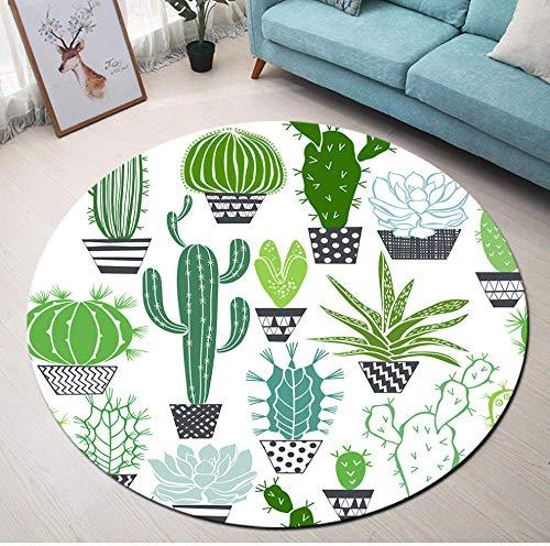 Yang Jingkai cartoon tapijt design potplanten cactus ronde tapijten hoofdslaapkamer woonkamer kinderkamer vloermatten