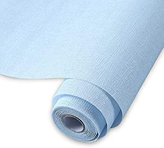 Contact Paper Solid Wallpaper Film Sticker Countertop Cover Peel and Stick Decorative Furniture Surface Film Tactile Sensation Surfaces Water Proof Easy to Clean for Cabinet (Blue 19.6