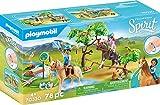 PLAYMOBIL DreamWorks Spirit - Desafío en el Río con Pru y Chica Linda, A partir de 4 Años (70330)