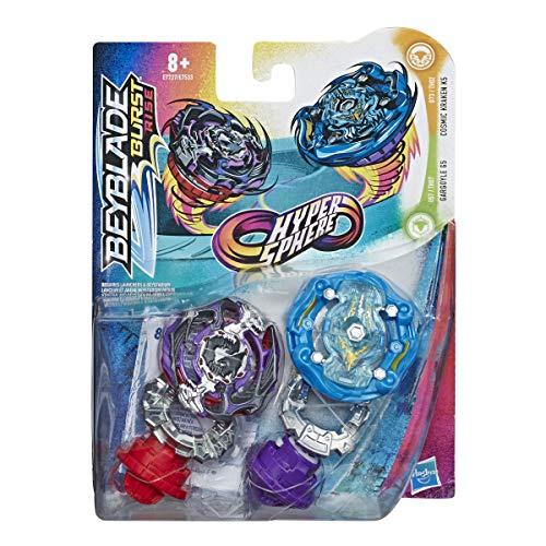 Beyblade Burst Rise Hypersphere Doppelpack Cosmic Kraken K5 und Gargoyle G5 – 2 rechtsdrehende Battling-Kreisel, ab 8 Jahren