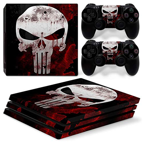 Skull Design Vinyl Decal Sticker Para La Consola PS4 Pro + 2 Controller Skin Sticker Para Playstation 4 Pro Accesorios Para Juegos
