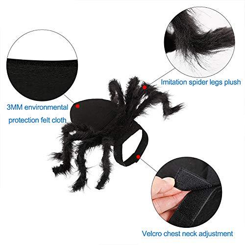 Sahgsa Simulación de Disfraz de araña para Mascotas Disfraz de ...