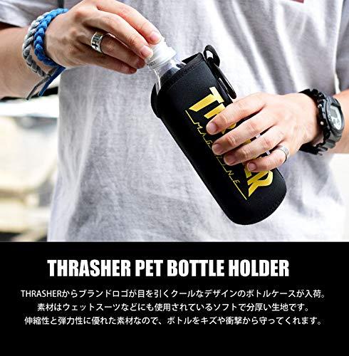 (スラッシャー)THRASHERペットボトルカバーおしゃれペットボトルホルダーカラビナ付き500mlメンズレディース水筒ケース