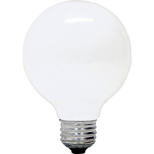 GE 12979-4 G25 Incandescent Soft White Globe Light Bulb, 40-Watt,
