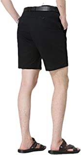 Mogogo Mens High Waist Non-Iron Straight Summer Relaxed-Fit Board Shorts