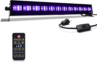 MICTUNING Black Light Bar 12Leds 36w UV Paints Glow in the Dark Party Supplies Fits for 30 x 30ft