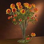 nearly natural 2108-or 23″ ranunculus stem (set of 12) orange