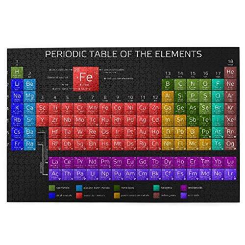 Tabla periódica educativa de los elementos para niños rompecabezas de imagen ambientales de 1000 piezas rompecabezas para niños juego intelectual
