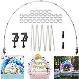 LIBRNTY Kit Arco Palloncini, Kit Arco semicircolare Arco Palloncino Regolabili,Resistente e Facile da installare,per Compleanno Sfondo di Nozze Decorazione per Feste per Diverse Dimensioni del Tavolo