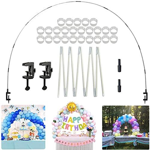LIBRNTY Décoration de fond ballon , Kit de Arche Ballon de Table ,pour différentes Tailles de Table pour Les Mariages et Les fêtes de Remise des diplômes ,Décorations et Accessoires de Fête