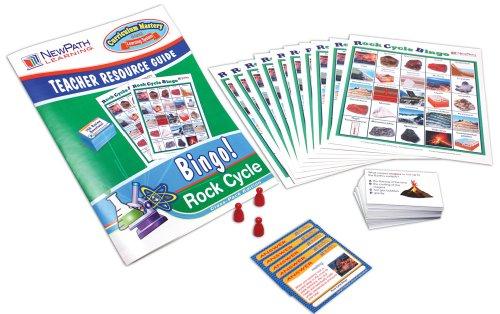 NewPath Learning Rock Cycle Bingo Game, Grade 5-9