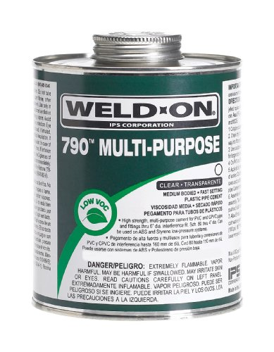 Ips Corporation 10260 Multi Purpose Weld On Cement 1/4 Pint Clear