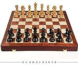 qianbanger Juego de ajedrez de Torneo Profesional, Juegos de ajedrez para Adultos, Piezas Pesadas, Juego de ajedrez de Madera Tallada a Mano Grande,