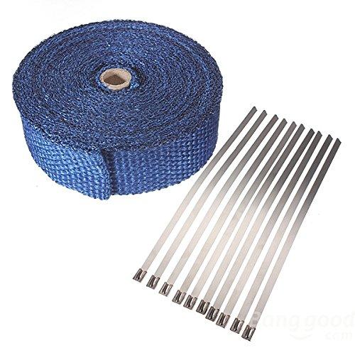 mark8shop 10m Wärme Wrap isolieren Faser Tape Abgaskrümmer Hitzeschutz
