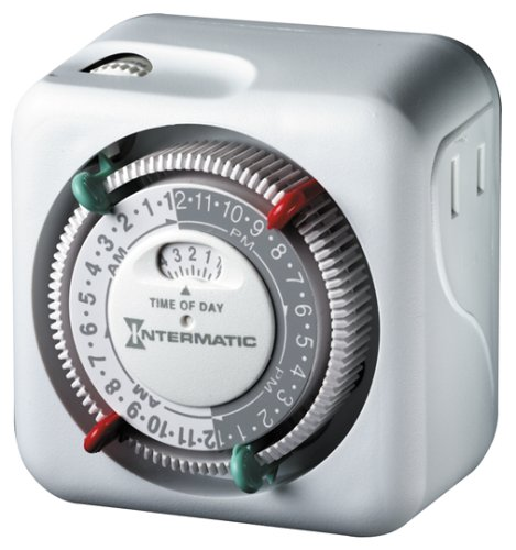 Intermatic Lamp and Appliance Security Timer TN111C70 with 2 On/Off Settings