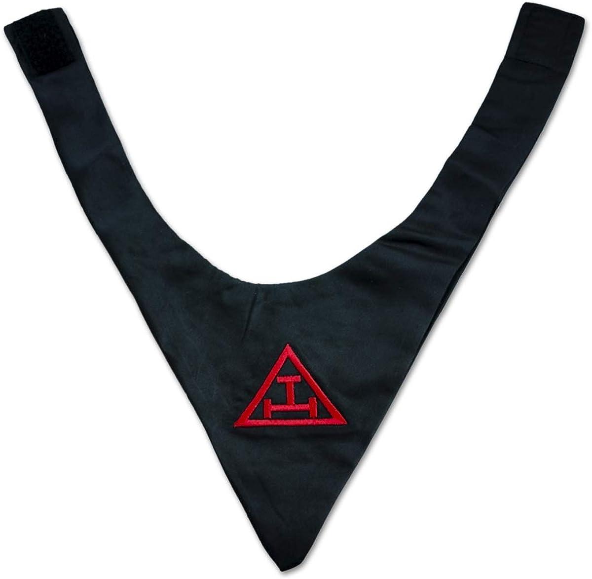 Royal Arch Satin Masonic Cravat - [Black]