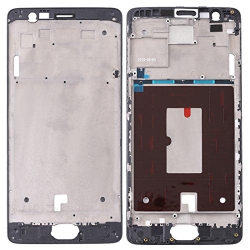LISUHONG ASHG AYSMG Frontal de la Carcasa del LCD del capítulo del Bisel Placa for OnePlus 3 / 3T / A3003 / A3000 / A3100 (Negro) (Color : Black)