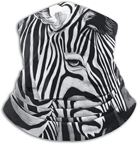 Zebrabilder Unisex Fleece Neck Warmer Gaiter Mikrofaser-Gesichtsmaske , Neck Gaiter, Magic Scarf für Staub im Freien
