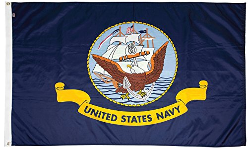FlagSource U.S. Navy Nylon Military Flag, Made in The USA, 3x5