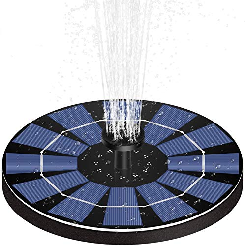 Madetec 2.5 Watt Submersible Solar Fountain Panel Kit with Battery Backup for Pool or Gardens