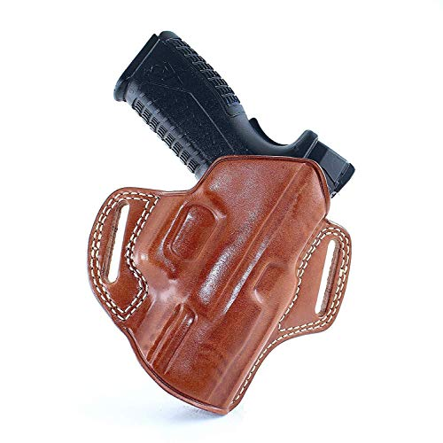 MASC Premium The Ultimate Leather Pancake OWB Bel Holster Fits Taurus PT 809 Full Size 9mm 4''BBL, Right Hand Draw, Brown Color #1366#